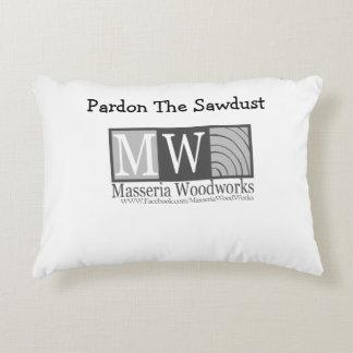 Pardon the Sawdust Pillow Black and White