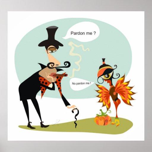 Pardonnez-moi thanksgiving poster