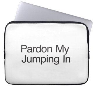 Pardonnez mon sauter dedans housse ordinateur portable