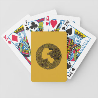Parent and child turtle bicycle playing cards