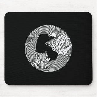Parent and child turtle mouse pad