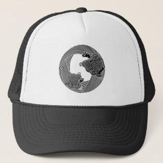 Parent and child turtle trucker hat