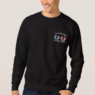 Parent of Twins - boy & girl Embroidered Sweatshirts