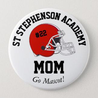 Parent Pride Senior Night Football Red Helmet 4 Inch Round Button
