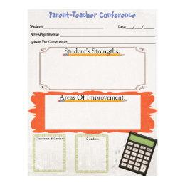 Teachers letterhead custom teachers letterhead templates parent teacher conference organizer sheet spiritdancerdesigns Image collections