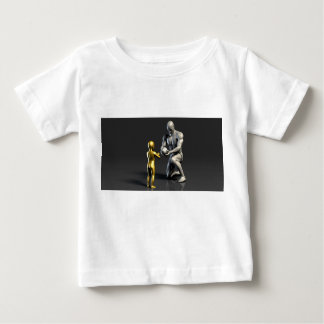 Parent Teaching Child as a Concept in 3D Baby T-Shirt