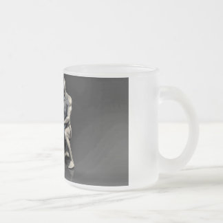 Parent Teaching Child as a Concept in 3D Frosted Glass Coffee Mug