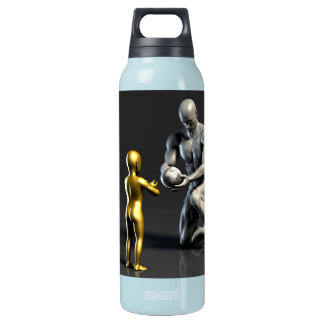 Parent Teaching Child as a Concept in 3D Insulated Water Bottle