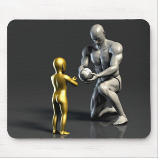 Parent Teaching Child as a Concept in 3D Mouse Pad