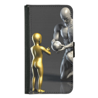 Parent Teaching Child as a Concept in 3D Samsung Galaxy S5 Wallet Case