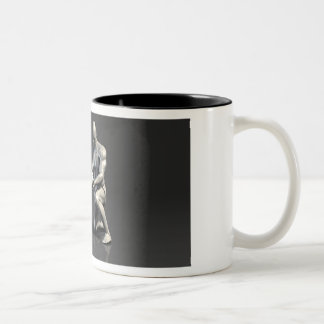 Parent Teaching Child as a Concept in 3D Two-Tone Coffee Mug