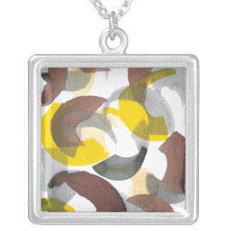Parenthesis II Silver Plated Necklace