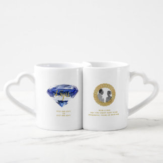 Parents 45th Wedding Anniversary Sapphire PHOTO Coffee Mug Set