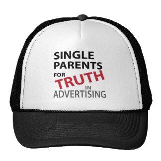 Parents célibataires pour la vérité casquettes