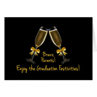 Parents-Enjoy the Graduation Festivities-Champagne Card