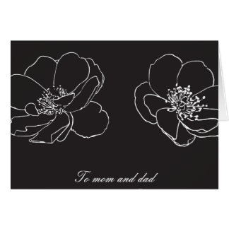 Parents Mom and Dad Wedding Thank You Greeting Card