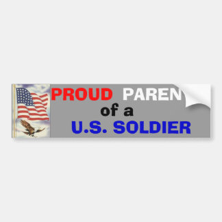 Parents of a Soldier Bumper Sticker