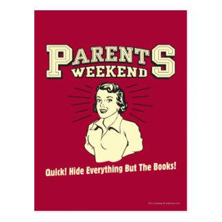 Parents Weekend: Hide Everything Postcard