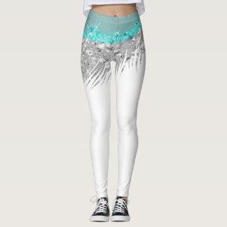 Parero Skirt Silver Gray White Glitter Tiffany Blu Leggings