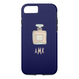 Parfum Bottle Illustration With Monogram Initials Case-Mate iPhone Case