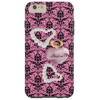 Parfum & Pearls Pink Damask iPhone6Plus Tough Case