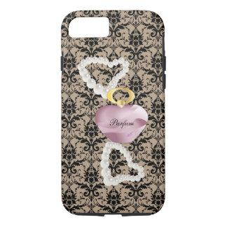 Parfum&Pearls Taupe Damask iPhone 7 Tough Case
