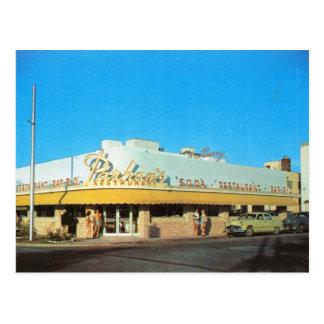 Parham's Restaurant, Miami Beach FL Vintage Postcard