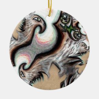 Pari Chumroo Products Round Ceramic Ornament
