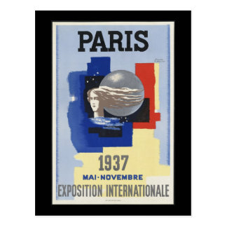 Paris 1937 postcard