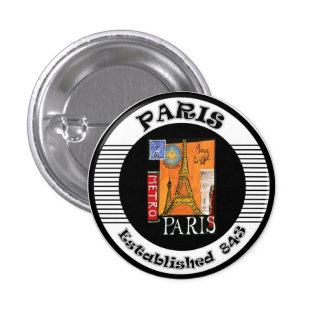 Paris 1 Inch Round Button