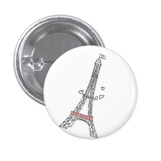 Paris 1 Inch Round Button