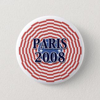 Paris 2008 2 inch round button