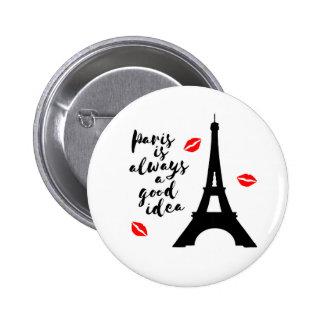Paris 2 Inch Round Button