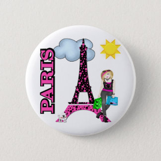Paris 2 Inch Round Button