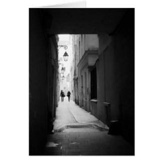 Paris alleyway, early morning, France Card