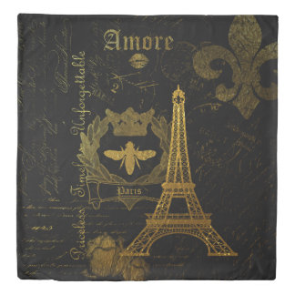 Paris: Amore Duvet Cover