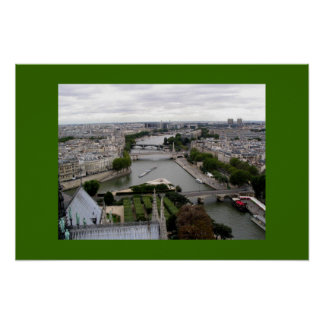 Paris and the Seine from Notre Dame Poster