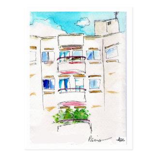 Paris Apartment Postcard French Retro