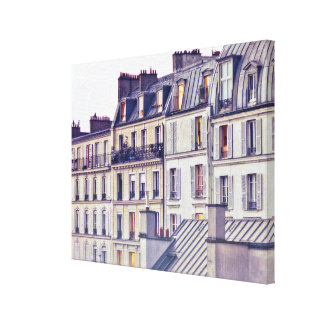 Paris Architecture | Roof Top Building Canvas Print