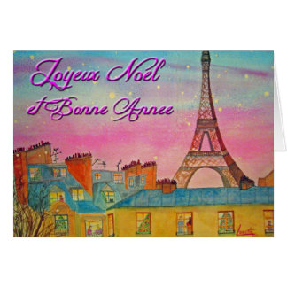 Paris at Christmas time - French ! Card