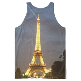 Paris at Night: Eiffel Tower All-Over-Print Tank Top