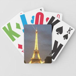 Paris at Night: Eiffel Tower Poker Deck