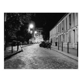 Paris at night postcard
