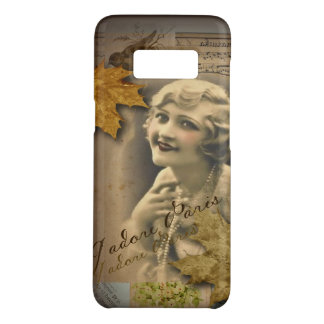 Paris autumn leaves vintage 1920 great gatsby Girl Case-Mate Samsung Galaxy S8 Case