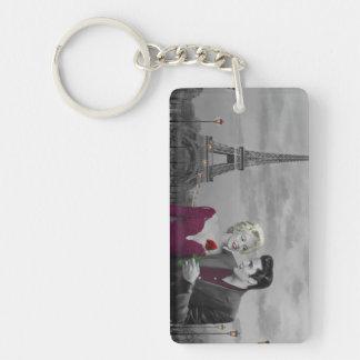 Paris B&W Keychain