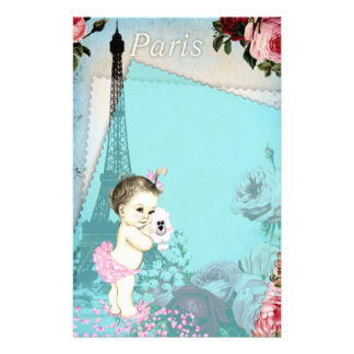 Paris Baby Custom Stationery