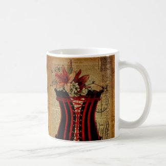 Paris Bachelorette Party vintage corset Classic White Coffee Mug