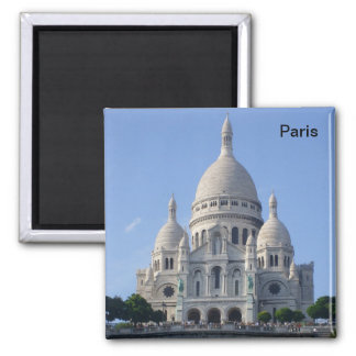 Paris - Basilica of the Sacr�-Heart - Square Magnet