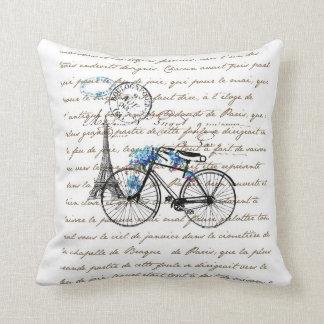 Paris Bicycle Forgetmenot Pillow
