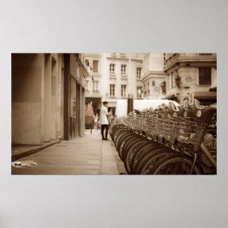 Paris Bicycling Poster